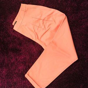 Zara coral trousers